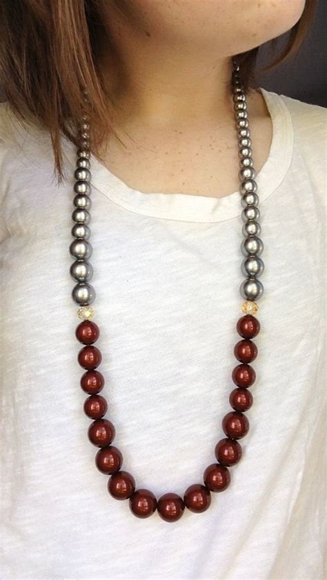 maroon beaded necklace gray zy for maroon necklace