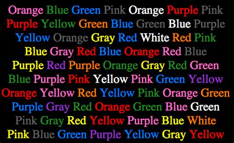 read colored allthingslinguistic stroop test say the colour