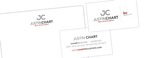 layout work cover logo branding design justin chart real estate group