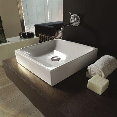 counter sinks bathroom ws bath collections cento 3544 counter top ceramic sink 17