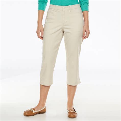 gloria vanderbilt mona comfort waist pants gloria vanderbilt polyester pants kohl s