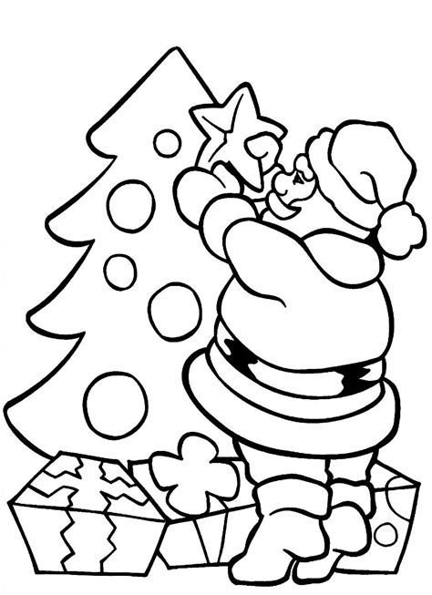 santa claus pictures to color santa claus and tree coloring pages