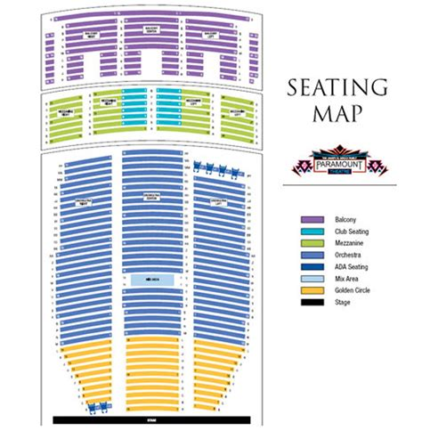 paramount theater seattle seating chart paramount theatre seating chart