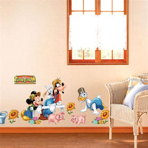 disney wall sticker disney mickey farm wall stickers wallstickery