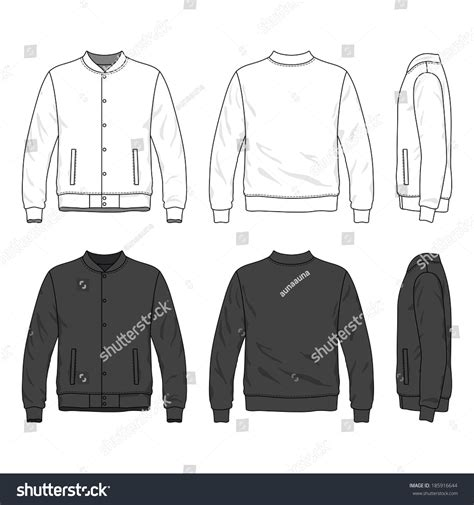 bomber jacket template blank s bomber jacket with buttons in front back and