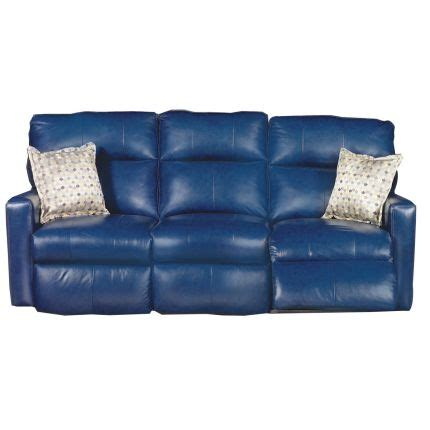 navy blue leather reclining sofa