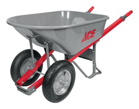 ace hardware wheelbarrow departments wheelbarrow 6cf stl 2whl