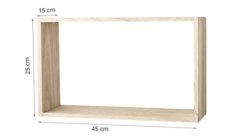 Etagere 45 Cm De Large by Etag 232 Re Murale En Bois Naturel 45 Cm De Large