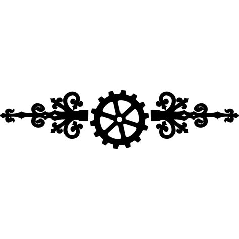 Free Clipart Borders clipart steampunk divider clip art library