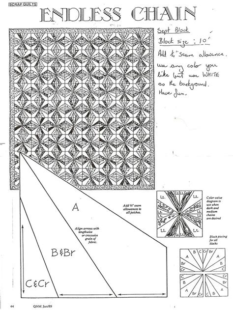 Quilt Pattern Endless Chain | 47 best images about endless chain quilt on pinterest