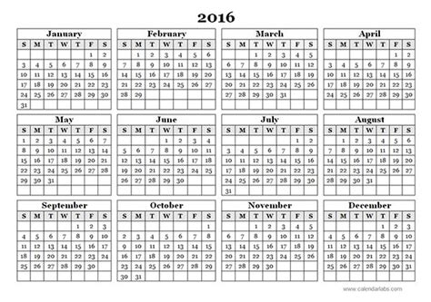 printable calendar 2016 india 2016 printable calendar word