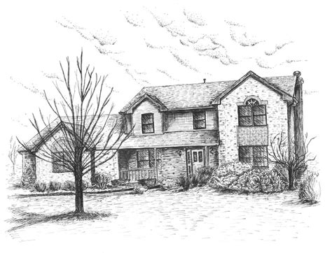 drawing of houses a nice house by crockercomics on deviantart