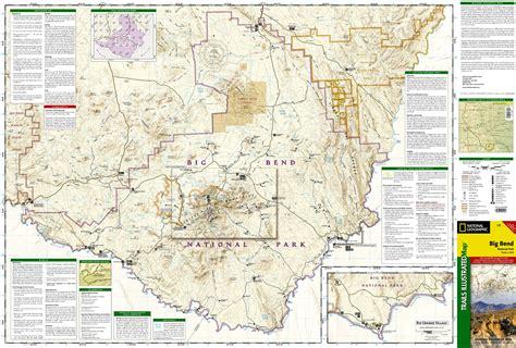 big bend park map wandelkaart topografische kaart 225 trails illustrated