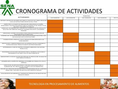 cronograma de actividades blog de la facultad de exposicion final