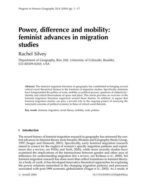themes in feminist literature power difference and mobility feminist pdf download
