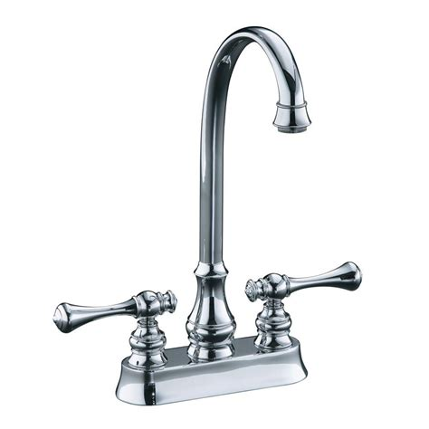 Kohler Bar Faucets by Kohler Revival 2 Handle Bar Faucet With Traditional Lever Handles In Polished Chrome K 16112 4a