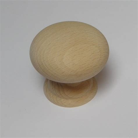 Large Wooden Knobs by Large Beech1 Wooden Sanded Door Knob