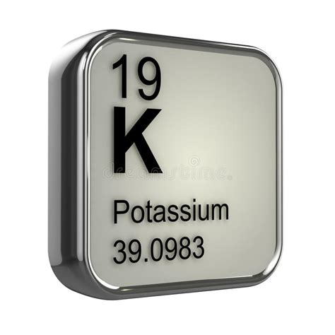 Potassium On The Periodic Table by 3d Potassium Element Stock Illustration Image 39029023