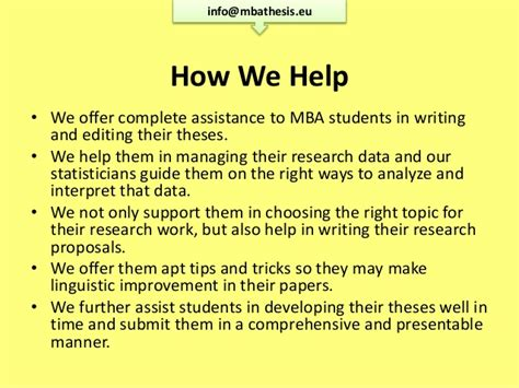 Mba Essay Tips And Tricks by Mba Thesis Writing Www Mbathesis Eu