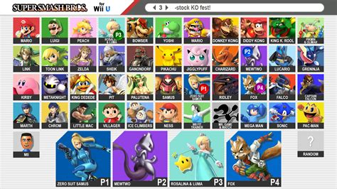 smash bros fan games super smash bros 4 fan made roster by reddfloxy on