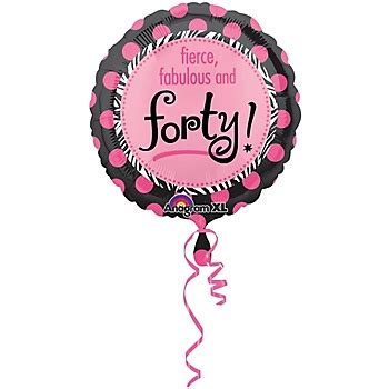 Fierce Fabulous And Forty Decorations by Another Year Fabulous 40 Mylar Balloon Each 40th