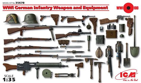 german weapons german military weapons of ww1 ww2 1 35 icm wwi german infantry weapons and equipment icm35678