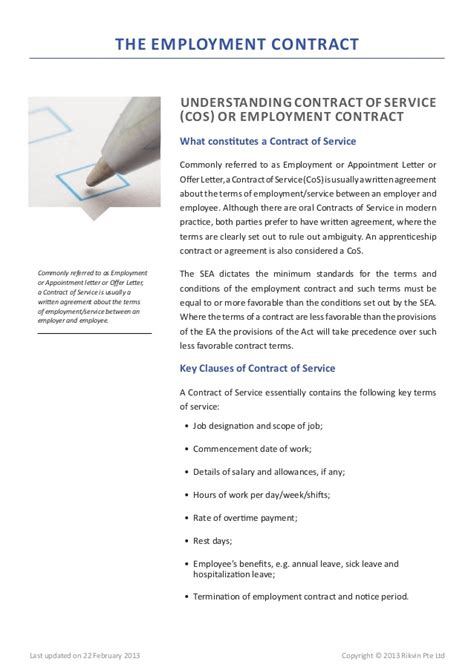 Employment Letter Template Singapore Singapore Employment Act 2013