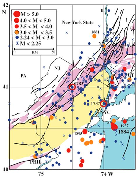 tracks seismic activity in pennsylvania penn state university earthquakes may endanger new york more than thought says