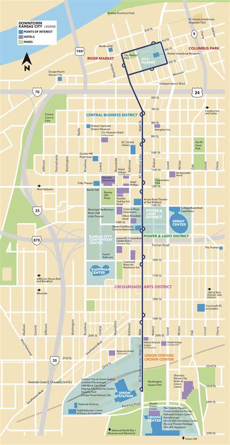 map of kansas city the kc streetcar route kansas city s modern transit option