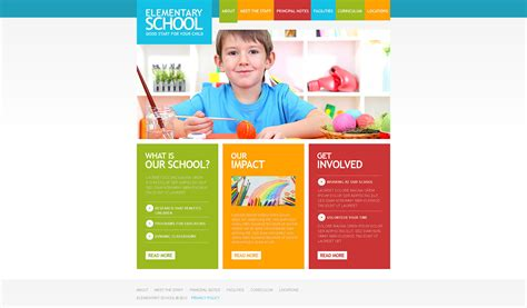 Primary School Responsive Website Template 39379 School Photo Templates Free