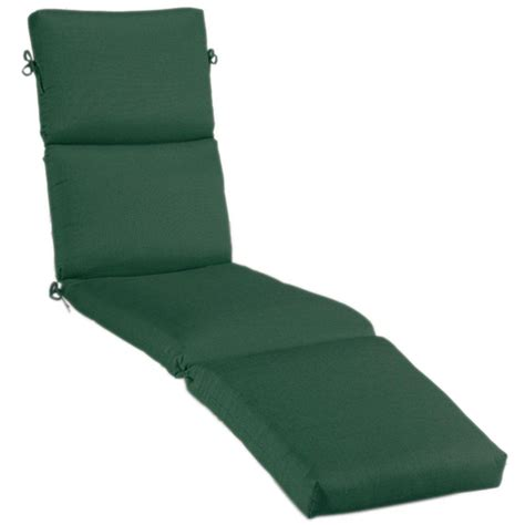 sunbrella chaise lounge cushion home decorators collection sunbrella forest green outdoor