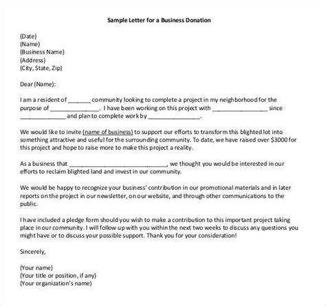 Fundraising Letter To Local Businesses how to write a donation letter business howsto co