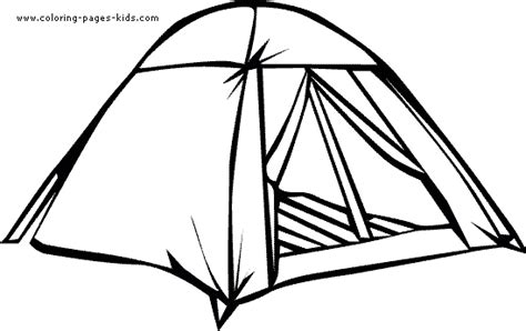 free coloring pages of cing tent