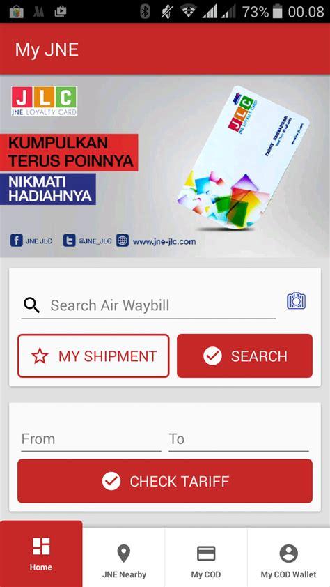 fungsi cek resi jne aplikasi my jne sudah di launching sahabatpemula com
