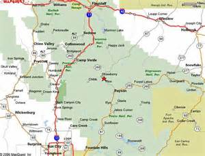 map of payson arizona strawberry arizona article map directions pictures