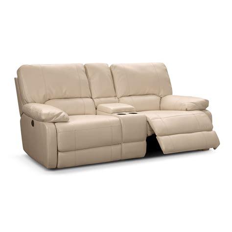 power reclining loveseat coronado leather power reclining loveseat value city