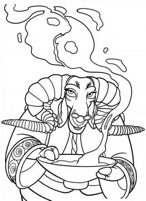 panda coloring page pdf kung fu panda bull cook coloring page coloringplus 275454