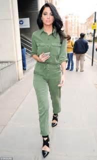 Hq 15958 Denim Jumpsuit tulisa contostavlos in mint green jumpsuit leaving warner s west hq daily mail