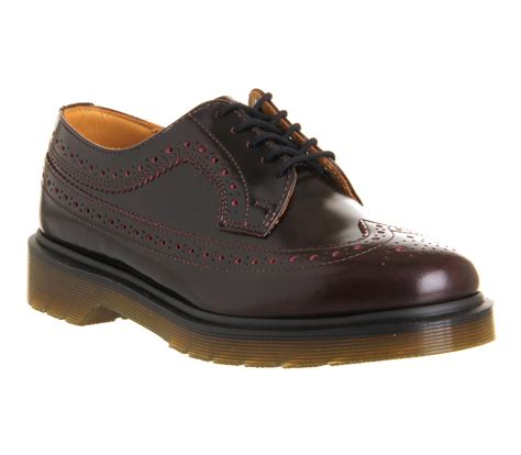 womens dr martens 3989 brogue shoes cherry flats ebay