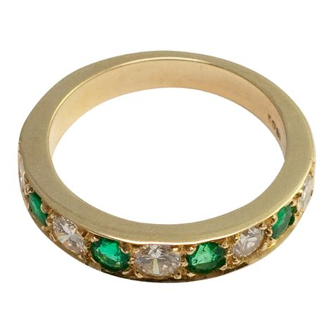 emerald and eternity ring from plaza jewellery