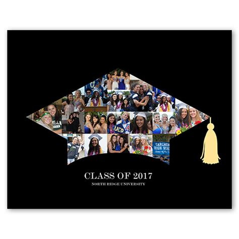 graduation collage print grad cap shutterfly