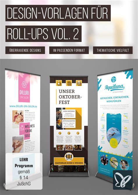 Grafik Design Vorlagen design vorlagen f 252 r roll ups die auffallen vol 2