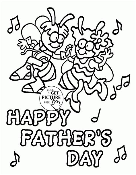 best father s day coloring page for kids fathers day card