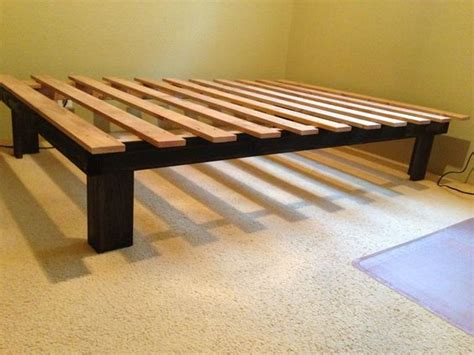Build A Bed Frame Cheap Cheap Easy Low Waste Platform Bed Plans 4x4 Platform Bed Frame And Diy Platform Bed