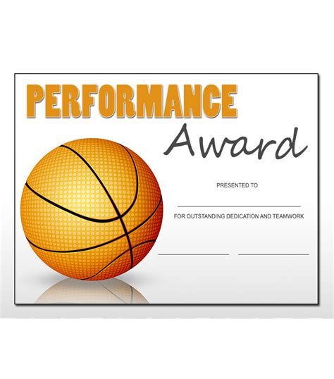 sports award templates basketball sports award template