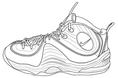 coloring pages nike lebron shoes coloring pages