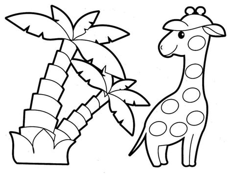Animal Coloring Pictures Free Baby Zoo Animal Coloring