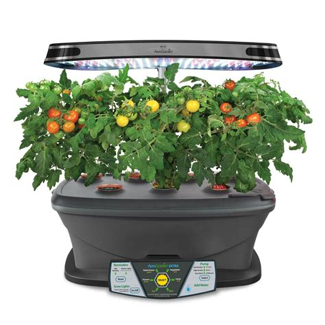 indoor garden kit miracle gro aerogarden extra led indoor garden with