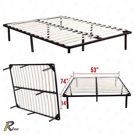 platform bed frame full full size wood slats metal platform bed frame mattress