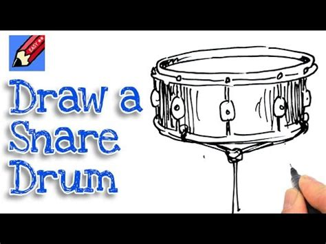drum tutorial easy how to draw a snare drum real easy spoken tutorial youtube
